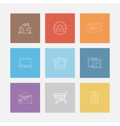 Outline icon colorful set vector image vector image