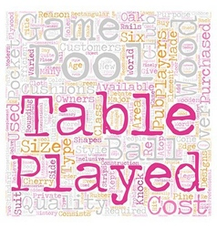 Pool tables which type should you choose text vector