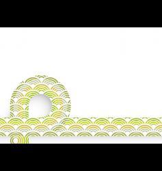 retro circles sheet vector image