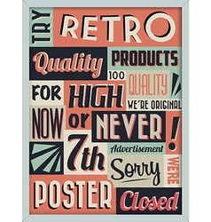 Retro vintage background with typography vector