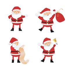 set of cartoon santa clauses vector image vector image
