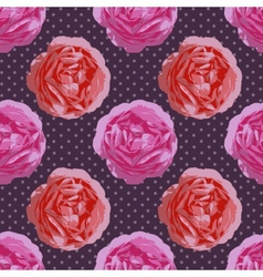 Shabby Chic seamless pattern vintage roses vector image vector image