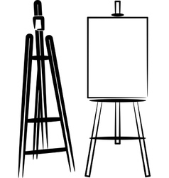Simple with easels vector
