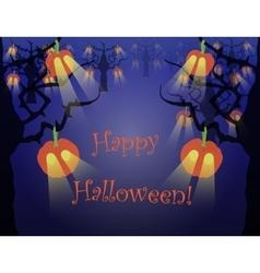 Spooky halloween forest vector