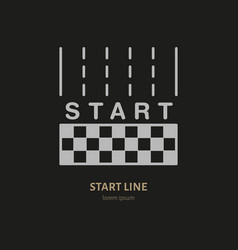 Start line linear icon speed automobile vector