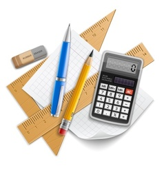 Tools set for education vector