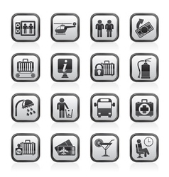 travel and transportation icons vector image vector image