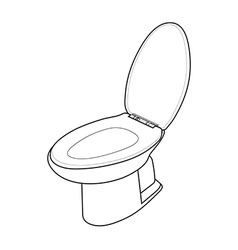 White toilet bowl vector