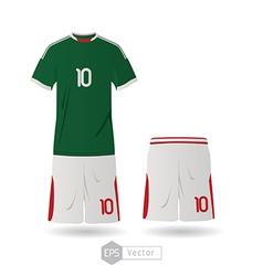 mexico team uniform 02 vector image