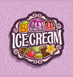 logo for ice cream vector image