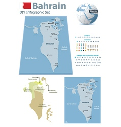 Bahrain maps with markers vector