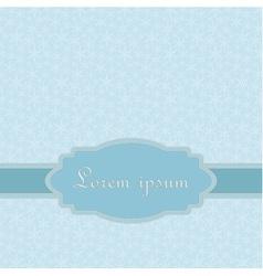 Blue card template vector