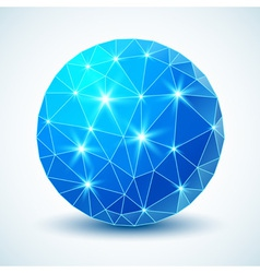 Blue technology geometric ball for your design vector