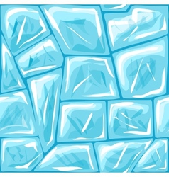 Ice seamless pattern vector image