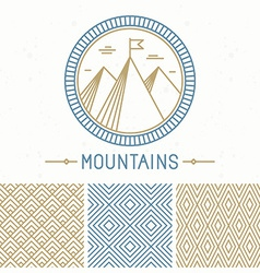 mountain design kit vector image