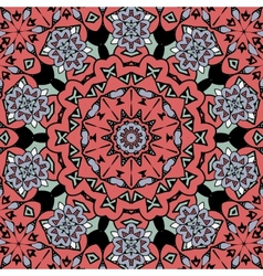 Floral oriental pattern mandala red color endless vector