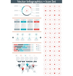 Flat style infographics and design elements with vector