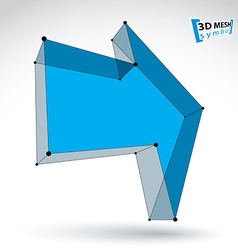 3d mesh trendy colorful forward arrow isolated on vector image vector image