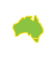 Flat icon on white background map of australia vector