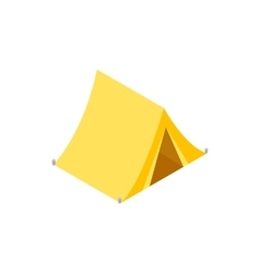 Hunting tent isometric 3d icon vector