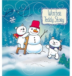Funny winter christmas story vector