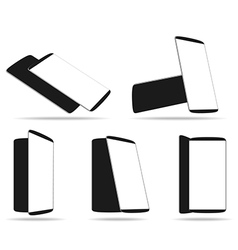 Set modern smartphones different angles views vector