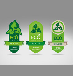 Environmentally friendly labels vector