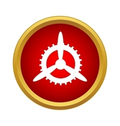 Mechanism of propeller icon simple style vector