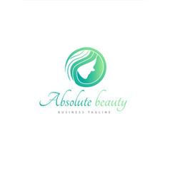 Absolute beauty logo vector