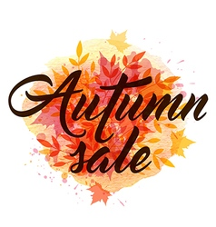 Abstract autumn background with falling leaves vector image