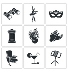 Ballet icons set vector
