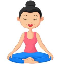 Beautiful woman doing Yoga Meditation vector image vector image