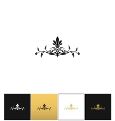 Beauty logo or beautiful floral icon vector