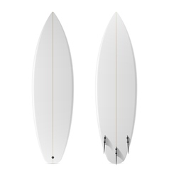 Blank surfboard vector image vector image