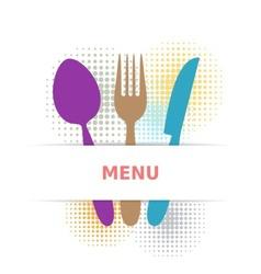 Colorful restaurant menu vector image vector image