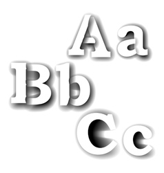 Compound letters abc vector