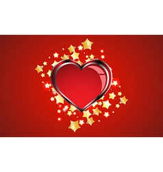 Creative red heart background vector