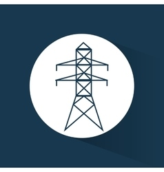 electrical pylon energy power blue background vector image