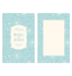 Floral marriage card vector