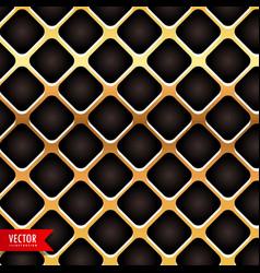 golden metal texture background vector image vector image