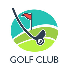 Golf country club logo template or icon for vector