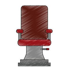 Isolated chair of hair salon design vector