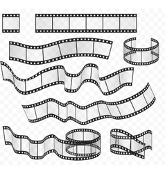 media film strips roll set Negative and vector image