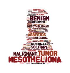 Mesothelioma the biological behavior text vector