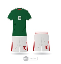 mexico team uniform 02 vector image vector image