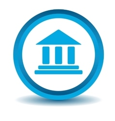 Museum icon blue 3d vector