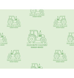 Natural products seamless pattern farm fresh eco vector image vector image