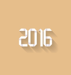 New year 2016 origami vector image vector image