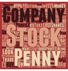 Penny stocks turn your pennies into dollars text vector