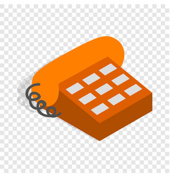 Phone handset isometric icon vector